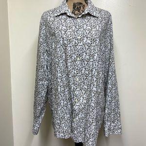 Calvin Klein Modern Fit Button Up Shirt, 100% Cott